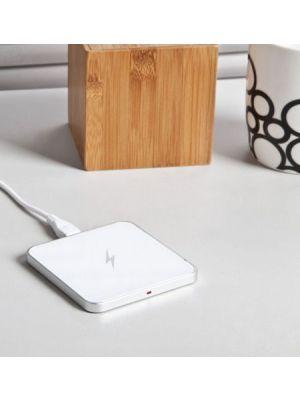 Bežični QI aluminium punjač, 5v 1a 5w, +micro usb cable 0.8m, bijeli