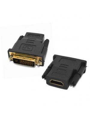 Optimus DVI (24+5) muški na HDMI ženski adapter, crni