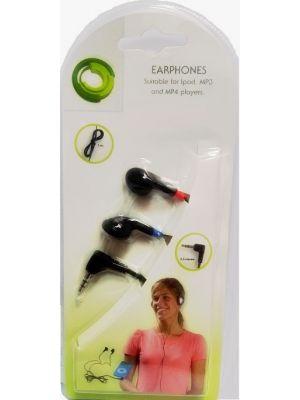Audio stereo slušalice 3.5mm konektor, 1.2m, crne