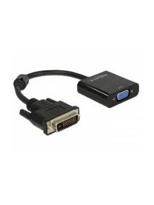 Optimus adapter  konverter,DVI (24+1) muški na VGA ženski, crni