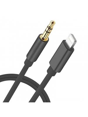 Optimus audio kabel, lightning na 3.5mm, 1m, crni