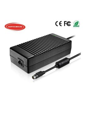 Optimus replacement laptop power charger adapter 150w 19v 7.9a, 100-240v 50-60Hz compatible with Fujitsu Siemens, 4 pin connector