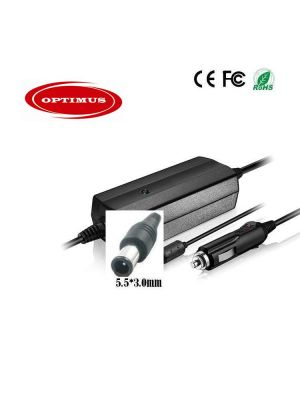 Optimus zamjenski 12/24v laptop auto punjač 90w (19v-4.74a),  kompatibilno sa Samsung, 5.5x3.0mm konektor
