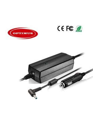 Optimus zamjenski 12/24v laptop auto punjač 90w (19.5v-4.62a), kompatibilno s Hp, 4.5x3.0mm smart pin konektor