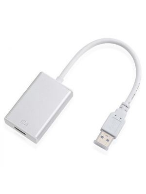 Optimus adapter konverter, usb 3.0 na HDMI, 0.2m, bijela