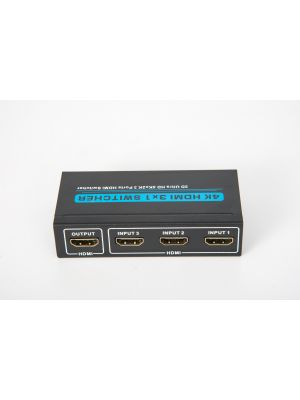 Optimus razdjelnik, HDMI 3 ulaza 1 izlaz, full HD, 4K@30Hz, crni