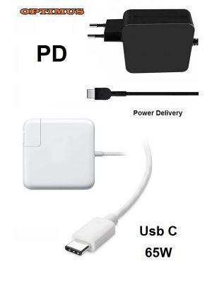 Optimus PD (power delivery) brzi punjač, 65w (5v/3a, 9v/3a, 12v/3a, 15v/3a, 20v/3.25a) kompatibilno s Dell