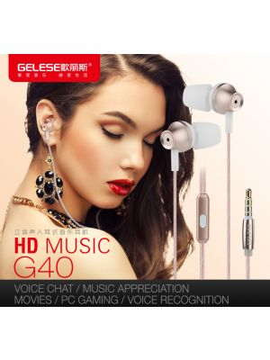 Audio stereo slušalice 3.5mm, Gelese G40