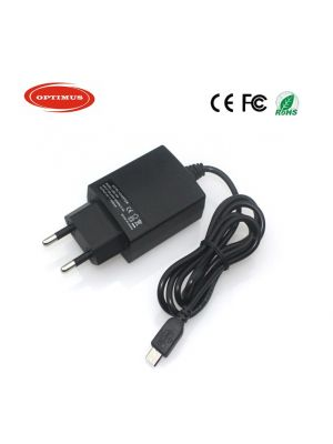 Optimus replacement travel charger 5v 2a 10w 100-240v 50-60Hz compatible with Caterpillar micro usb connector