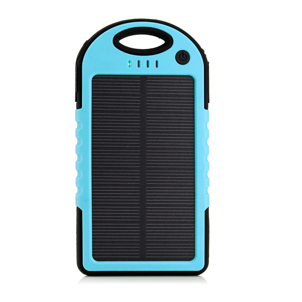 Prijenosna baterija (power bank) 5000mah, vodonepropusna sa solarnim napajanjem